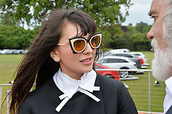 ZARA MARTIN at the Audi Polo Challenge at Coworth Park, Blacknest Road, Ascot, Berkshire on 31st May 2015.