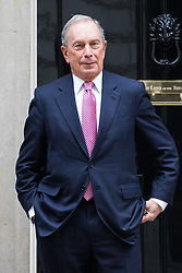 Downing Street, London, May 19th 2016. Former Mayor of New York and business magnate Michael Bloomberg visits political business leaders at 10 Downing Street.