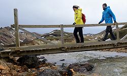 05-07-2014 NED: Iceland Diabetes Challenge dag 1, Landmannalaugar <br /> Vandaag ging de challenge van start. Met een bus gingen we van Vogar naar Landmannalaugar en zagen we de eerste tekenen van het prachtige landschap van IJsland / Eddy, Petra