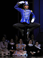 "Soldier Doll Francisco Sanchez performs during the party scene of Ballet Arts Worcester's production of ""The Nutcracker"" at the Hanover Theatre for the Performing Arts on Friday, Nov. 28, 2014."