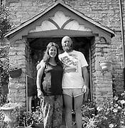 Micheal & Jean Eavis in their worthy farm garden, at Glastonbury, 1989.