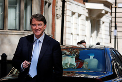 UK ENGLAND LONDON 15APR08 - The British Commissioner of the European Union for Trade, Peter Benjamin Mandelson (54) poses for a photo next to his official car, a Volvo S80 in front of the Representation of the EU in Westminster, central London.....jre/Photo by Jiri Rezac....© Jiri Rezac 2008....Contact: +44 (0) 7050 110 417..Mobile:  +44 (0) 7801 337 683..Office:  +44 (0) 20 8968 9635....Email:   jiri@jirirezac.com..Web:    www.jirirezac.com....© All images Jiri Rezac 2008 - All rights reserved.