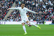 England's Ben Chilwell with a shot on goal during the UEFA Nations League match between England and Croatia at Wembley Stadium, London, England on 18 November 2018.