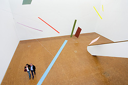 Art installation by Joel Shapiro at  Museum Ludwig in Cologne Germany
