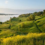 Beautiful banks of River Volga in Russia, Tver Region.