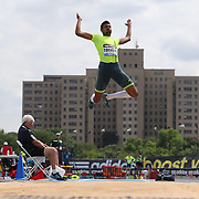 Michel Torneus, Sweden, in action in the Men's Long Jump competition during the Diamond League Adidas Grand Prix at Icahn Stadium, Randall's Island, Manhattan, New York, USA. 14th June 2014. Photo Tim Clayton