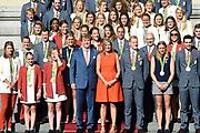 Olympische medaillewinnaars Rio 2016 ontvangen door de Koning Willem Alexander en Konningin Maxima  op Paleis Noordeinde<br /> <br /> Rio 2016 Olympic medalists received by King Willem Alexander and Maxima Konningin at Noordeinde Palace