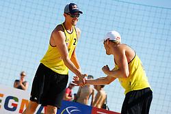20140605 ITA: EK Beachvolleybal, Cagliari<br /> Robert Meeuwsen, Alexander Brouwer<br /> ©2014-FotoHoogendoorn.nl / Pim Waslander