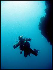 Divers in the Atlantic Ocean