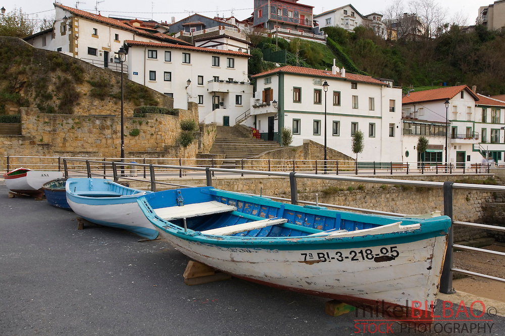 boats in a harbour. Puerto Viejo (Old Port).<br />
