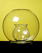 glass bowl protecting an other glass piece