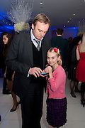 PHILIP GLENISTER; MILLIE GLENISTER, English National Ballet's party before performance of the ' The Nutcracker. St. Martin's Lane Hotel. London 14 December 2011.