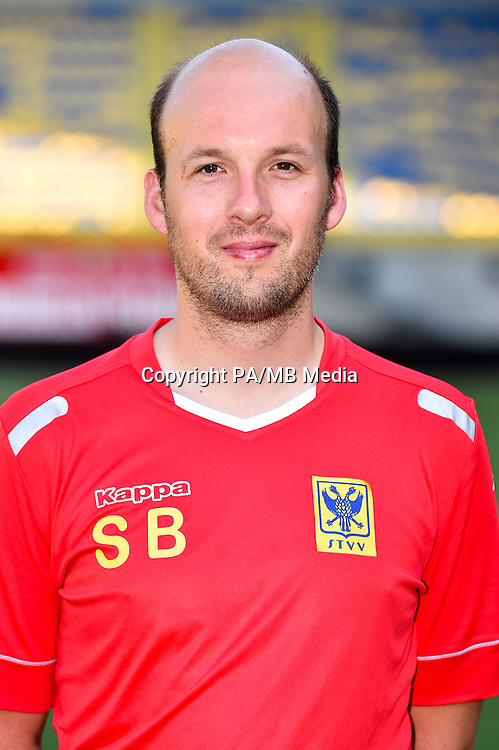 STVV's doctor Steven Bex poses for the photographer during the 2015-2016 season photo shoot of Belgian first league soccer team STVV, Friday 17 July 2015 in Sint-Truiden.