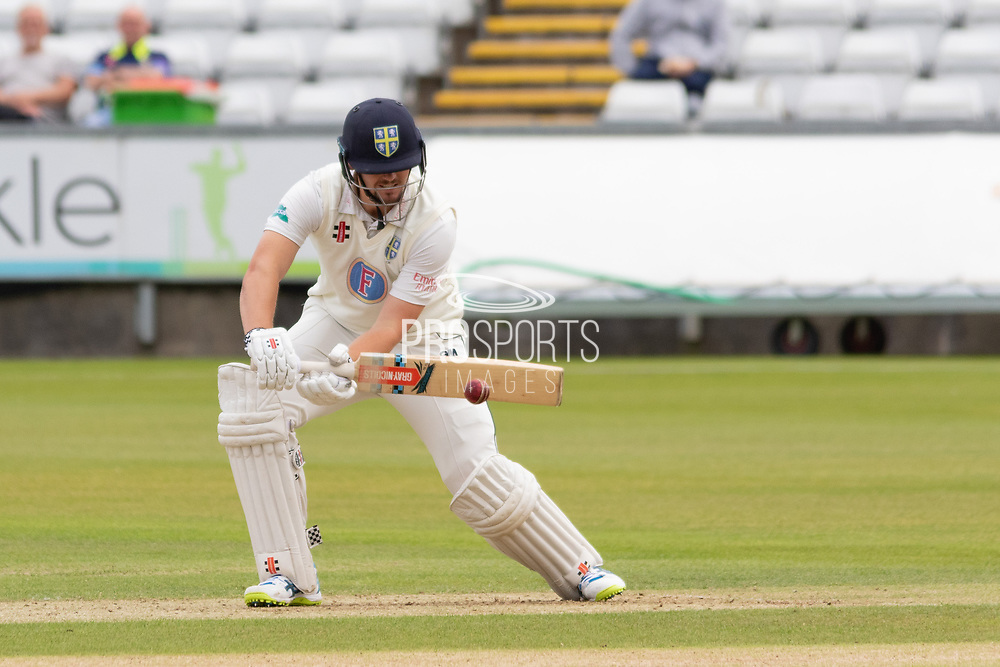 Alex Lees batting during the Specsavers County Champ Div 2 match between Durham County Cricket Club and Leicestershire County Cricket Club at the Emirates Durham ICG Ground, Chester-le-Street, United Kingdom on 18 August 2019.