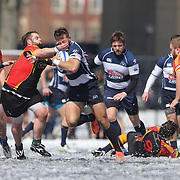 Mystic River and Connecticut Yankees players in action during the Men's Club Division game at the Four Leaf 15s Rugby Tournament which attracted over 60 clubs teams from New York and Interstate. Randall's Island Park, New York,  USA. 21st March 2015. Photo Tim Clayton