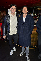 Left to right, DIEGO BARRUECO and JOEY LONDON at a party to celebrate the UK launch of French fashion label ba&sh at The Arts Club, Dover Street, London on 15th March 2016.