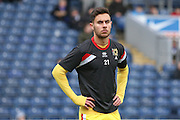 MK Dons defender George Baldock (21)  during the Sky Bet Championship match between Blackburn Rovers and Milton Keynes Dons at Ewood Park, Blackburn, England on 27 February 2016. Photo by Simon Davies.