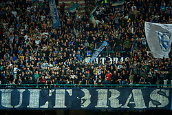 NAPLES, ITALY - Wednesday, October 3, 2018: Napoli supporters, with a banner calling themselves Ultras, during the UEFA Champions League Group C match between S.S.C. Napoli and Liverpool FC at Stadio San Paolo. (Pic by David Rawcliffe/Propaganda)