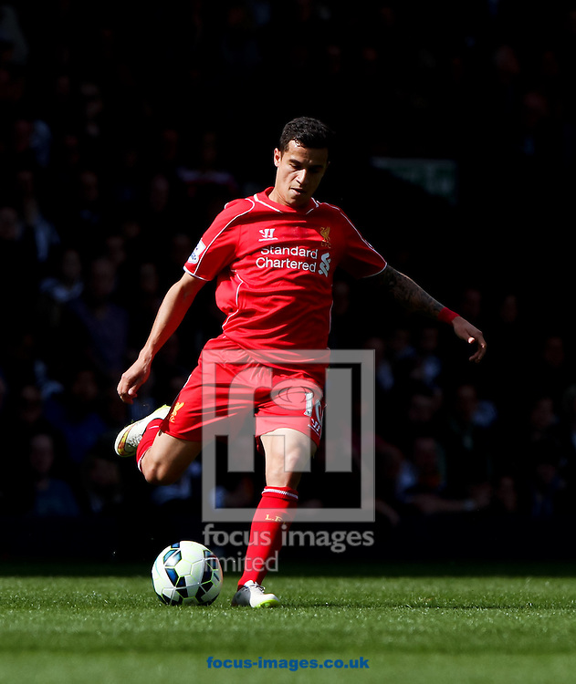 Philippe Coutinho of Liverpool in possession of the ball during the Barclays Premier League match at The Hawthorns, West Bromwich<br /> Picture by Tom Smith/Focus Images Ltd 07545141164<br /> 25/04/2015