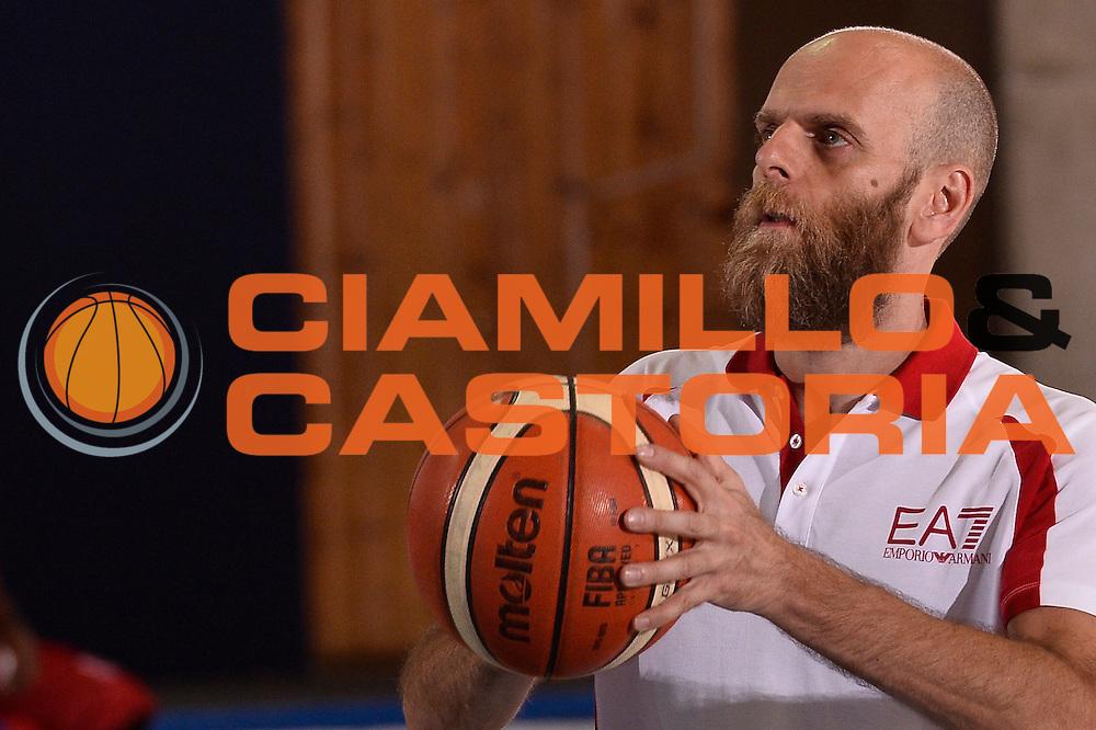 Massimo Cancellieri <br /> EA7 Emporio Armani Olimpia Milano allenamento<br /> Lega Basket Serie A 2016/2017<br /> Bormio 25/08/2016<br /> Foto Ciamillo-Castoria