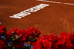 April 23, 2018 - Barcelona, Spain - View of principal Rafa Nadal court in the instalations of the Barcelona Open Banc Sabadell 66º Trofeo Conde with roses in the Sant Jordi day de at Reial Club Tenis Barcelona on 23 of April of 2018 in Barcelona. (Credit Image: © Xavier Bonilla/NurPhoto via ZUMA Press)
