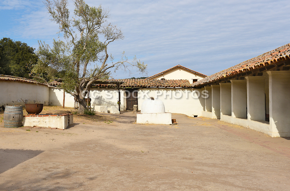 Inner Courtyard at La Purisima Mission