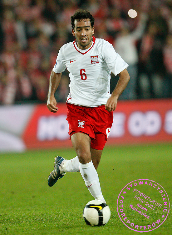 FIFA World Cup European Qualifying Group 3.Poland v San Marino.Saturday 1st of April 2009.Roger Guerreiro of Poland ..Photo by : Piotr Hawalej / WROFOTO