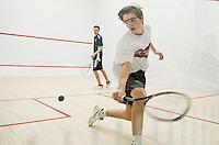 St Pauls School varsity squash with Belmont Hills.   ©2016 Karen Bobotas Photographer