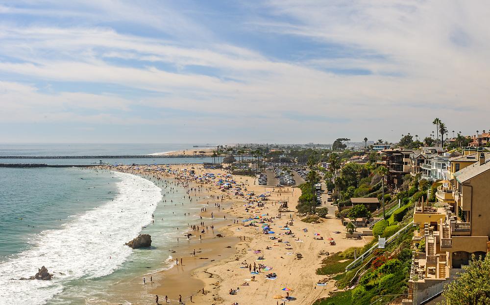 View from Inspiration Point in Corona del Mar, Newport Beach, California