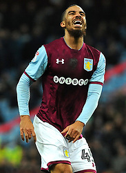 Lewis Grabban of Aston Villa shows a look of dejection after missing a chance to score a goal- Mandatory by-line: Nizaam Jones/JMP - 20/02/2018 - FOOTBALL - Villa Park - Birmingham, England - Aston Villa v Preston North End- Sky Bet Championship