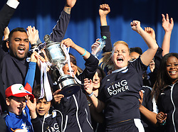 Leicester City Ladies celebrate with their trophy after winning the Midland Premier League - Mandatory by-line: Jack Phillips/JMP - 16/05/2016 - FOOTBALL - Leicester City FC, Sky Bet Premier League Winners 2016 - Leicester City Victory Parade