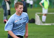 FODBOLD: Jacob Jensen (Helsingør) under kampen i Kvalifikationsrækken, pulje 1, mellem AB og Elite 3000 Helsingør den 20. maj 2006 på Skovdiget Idrætsanlæg. Foto: Claus Birch