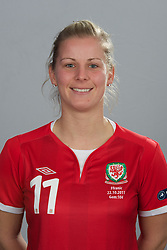 TREFOREST, WALES - Tuesday, February 14, 2011: Wales' Kylie Davies. (Pic by David Rawcliffe/Propaganda)