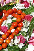 Flowers & leis, Hakahau, Ua Pou, Marquesas, French Polynesia<br />
