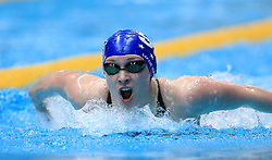 Elizabeth Harris competes in the Women's 200m Open 200m Butterfly heats during day three of the 2017 British Swimming Championships at Ponds Forge, Sheffield.
