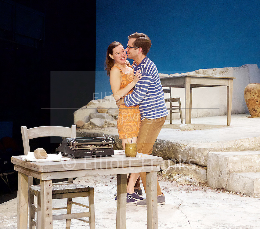 Sunset at the Villa Thalia <br /> by Alexi Kaye Campbell<br /> at Dorfman Theatre, National Theatre, Southbank, London, Great Britain <br /> <br /> 31st May 2016 <br /> press photocall <br />  <br /> <br /> directed by Simon Godwin<br />  <br /> <br /> <br /> Sam Crane as Theo <br /> <br /> Pippa Nixon as Charlotte <br /> <br />  <br /> <br /> Photograph by Elliott Franks <br /> Image licensed to Elliott Franks Photography Services
