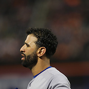 Jose Bautista, Toronto Blue Jays, during the New York Mets Vs Toronto Blue Jays MLB regular season baseball game at Citi Field, Queens, New York. USA. 16th June 2015. Photo Tim Clayton