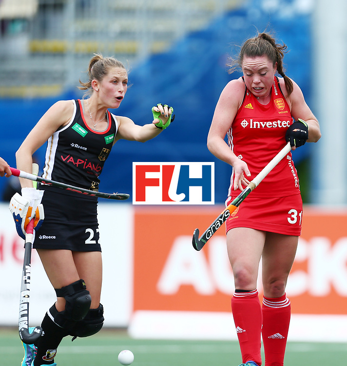 New Zealand, Auckland - 18/11/17  <br /> Sentinel Homes Women&rsquo;s Hockey World League Final<br /> Harbour Hockey Stadium<br /> Copyrigth: Worldsportpics, Rodrigo Jaramillo<br /> Match ID: 10293 - ENG vs GER<br /> Photo: (22) PIEPER Cecile and (31) BALSDON Grace