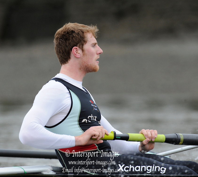 Putney, London, CUBC.  George NASH, AM Training Session, River Thames, Varsity, University Boat Race, Tideway Week, Tuesday  30/03/2010 [Mandatory Credit Peter Spurrier/ Intersport Images]