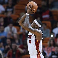19 November 2010: Miami Heat's small forward #6 LeBron James takes a jumpshot during the Miami Heat 95-87 victory over the Charlotte Bobcats at the AmericanAirlines Arena, Miami, Florida, USA.