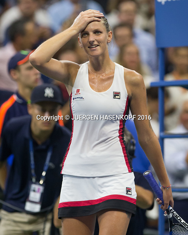 KAROLINA PLISKOVA (CZE) jubelt nach ihrem Sieg,Jubel, Emotion, Freude,<br /> <br /> <br /> Tennis - US Open 2016 - Grand Slam ITF / ATP / WTA -  USTA Billie Jean King National Tennis Center - New York - New York - USA  - 8 September 2016.