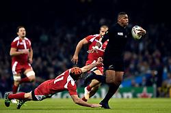 Waisake Naholo of New Zealand takes on the Georgia defence - Mandatory byline: Patrick Khachfe/JMP - 07966 386802 - 02/10/2015 - RUGBY UNION - Millennium Stadium - Cardiff, Wales - New Zealand v Georgia - Rugby World Cup 2015 Pool C.