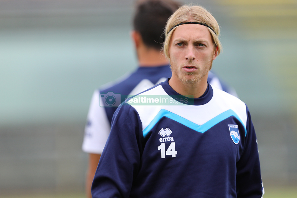 July 25, 2017 - Avezzano, AQ, Italy - Alessandro Crescenzi of Pescara Calcio 1936 during the Pre-Season 2017/2018 Friendly Match Pescara Calcio 1936 v Teramo Calcio 1913, at Dei Marsi Stadium on July 25, 2017 in Avezzano, Italy  (Credit Image: © Danilo Di Giovanni/NurPhoto via ZUMA Press)