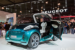 Peugeot BBI prototype electric car at Paris Motor Show 2010