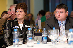 Martina Ratej and Andrej Hajnsek during the Slovenia's Athlete of the year award ceremony by Slovenian Athletics Federation AZS, on November 12, 2008 in Hotel Mons, Ljubljana, Slovenia.(Photo By Vid Ponikvar / Sportida.com) , on November 12, 2010.