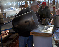 Pre-filtration of the maple sap for the maple syrup boil-down. Image taken with a Leica TL camera and 18-56 mm zoom lens