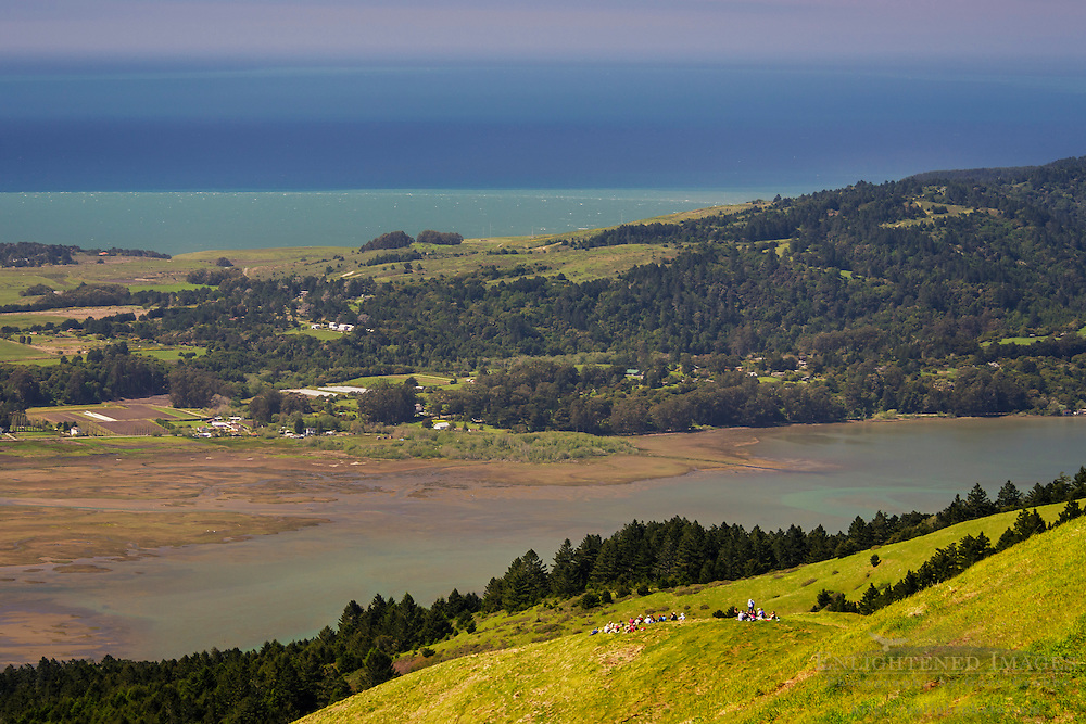Bolinas Lagoon seen from Bolinas Ridge, Mount Tamalpais State Park, Marin County, California