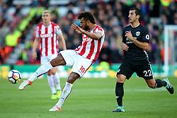 Eric Maxim Choupo Moting of Stoke City fires a shot at goal  - Mandatory by-line: Matt McNulty/JMP - 09/09/2017 - FOOTBALL - Bet365 Stadium - Stoke-on-Trent, England - Stoke City v Manchester United - Premier League