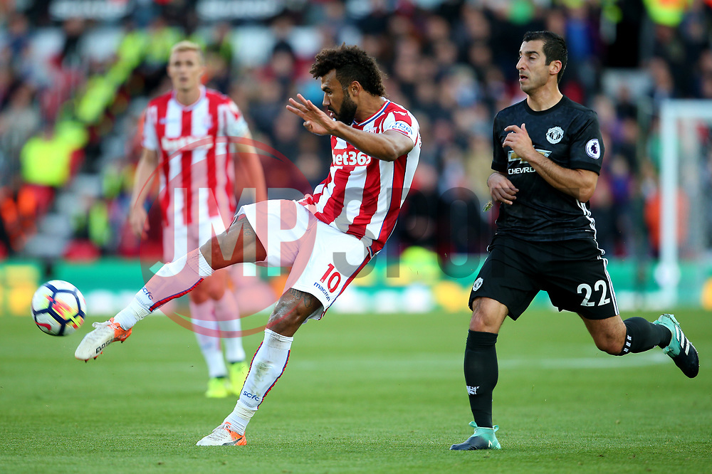 Eric Maxim Choupo Moting of Stoke City fires a shot at goal  - Mandatory by-line: Matt McNulty/JMP - 09/09/2017 - FOOTBALL - Bet365 Stadium - Stoke-on-Trent, England - Stoke City v Manchester United - Premier League