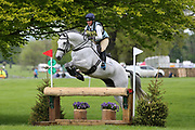 Kitty King riding Cristal Fontaine during the International Horse Trials at Chatsworth, Bakewell, United Kingdom on 12 May 2018. Picture by George Franks.